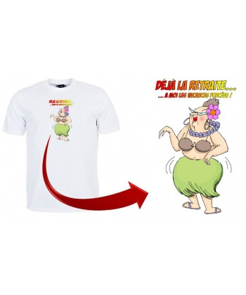 """Tee shirt """"Départ à la retraite"""" femme"""