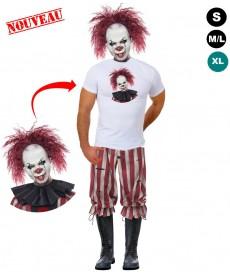 Déguisement halloween Méchant clown