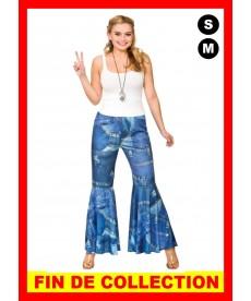 Déguisement Disco pantalon pattes Effet jeans