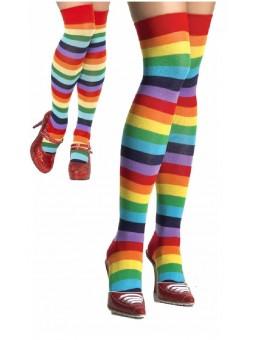 Chaussettes de clown multicolores