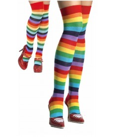 Chaussettes de clown multicolores