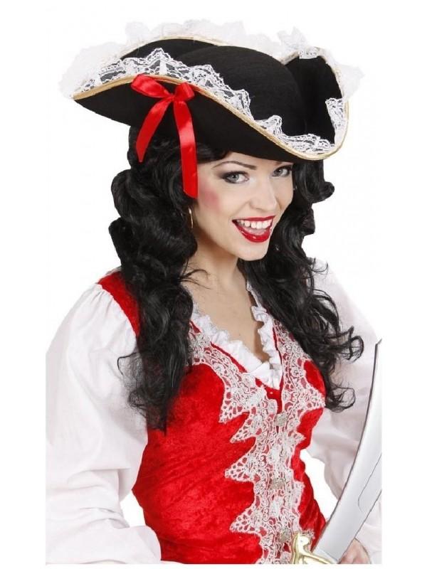 Chapeau de piratine avec dentelle