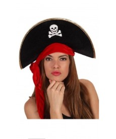 Chapeau bicorne de pirate