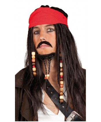 Perruque Pirate des Caraïbes