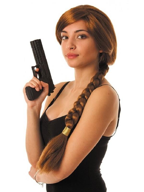 Perruque de Lara Croft - Tomb Raider