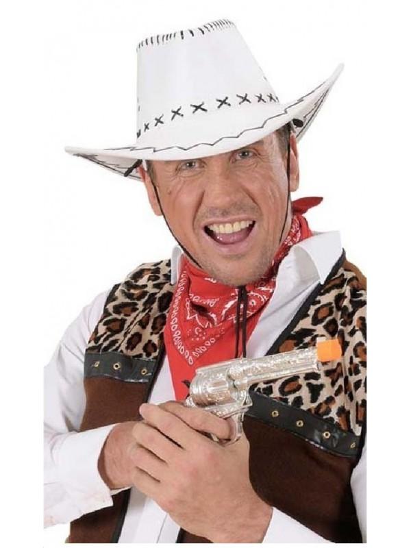 Chapeau cowboy nubuck blanc