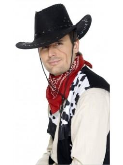 Chapeau cowboy nubuck noir
