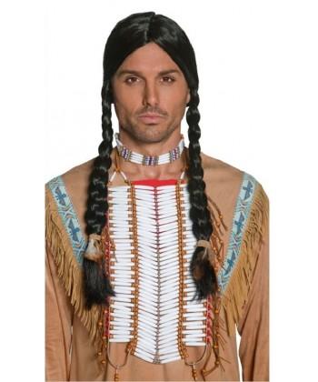 Perruque d'indien avec bandeau