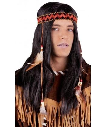 Perruque d'indien avec plumes