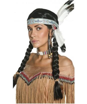Perruque d'indienne avec bandeau