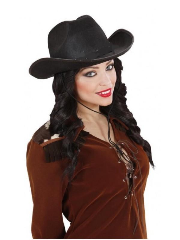 Chapeau cow-girl noir