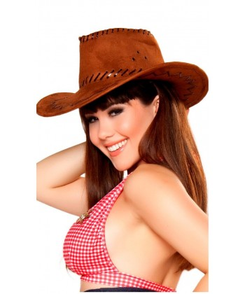 Chapeau de Cow-girl marron