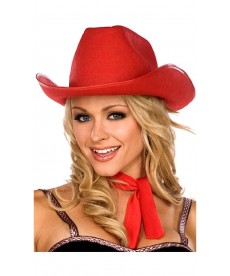 Chapeau de Cow-girl rouge