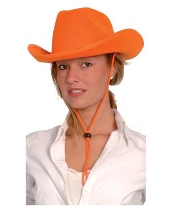 Chapeau de Cow-girl orange