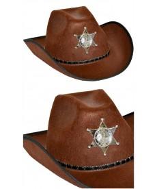 Chapeau de Shérif marron