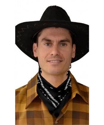 Bandana de cowboy noir