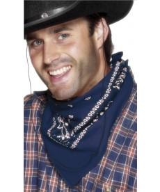 Bandana de cowboy noir bleu