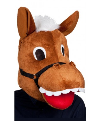 Tête de cheval en peluche !