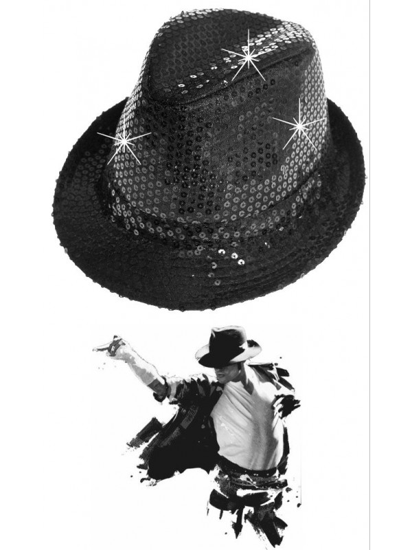 Chapeau paillette Mickael Jackson