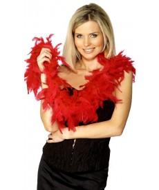 Boa plumes rouges