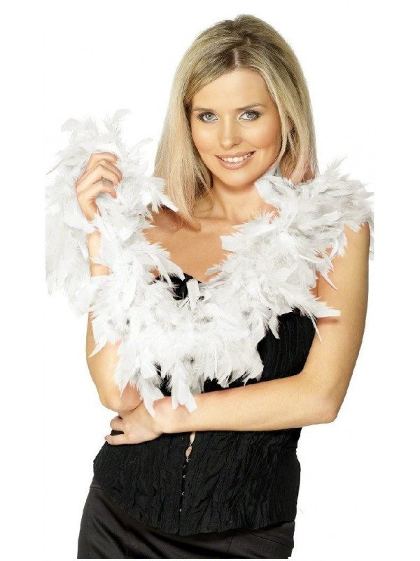 Boa plumes blanches