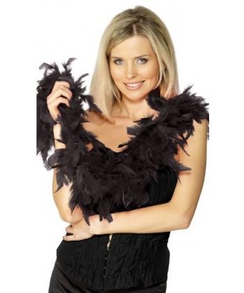 Boa plumes noires