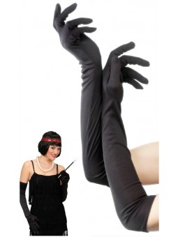 Longs gants noirs
