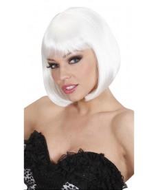 Perruque coupe années 30 blanche