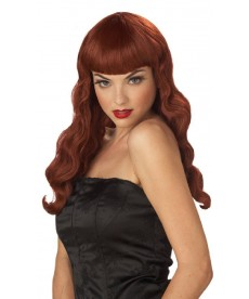 Perruque Pinup rousse
