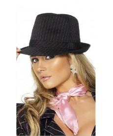 Chapeau Borsalino noir rayé