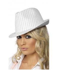 Chapeau Borsalino blanc rayé