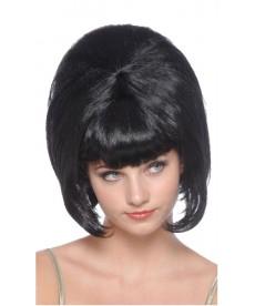 Perruque noire années 60 pour femme