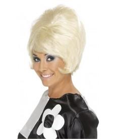 Perruque blonde années 60 pour femme