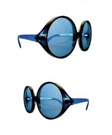 Lunette hippie géante bleue