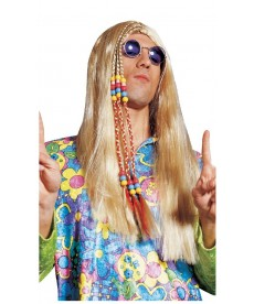 Perruque hippie blonde