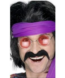 Moustache hippie noire