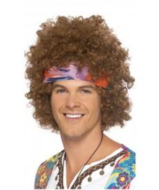 Perruque hippie frisée