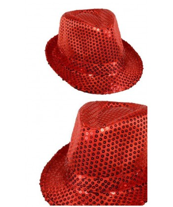 Justin paillettes rouge disco