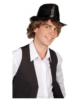 Justin paillettes noires disco