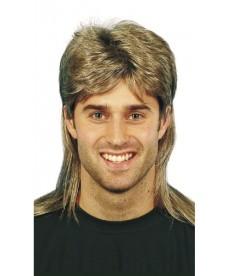 Perruque homme méchée années 80