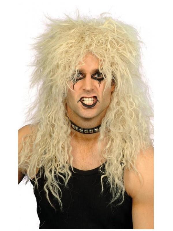 Perruque hard rockeur blonde
