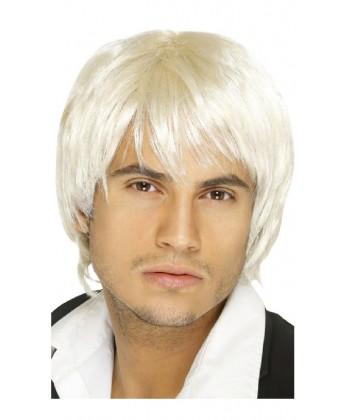 Perruque blonde années 80