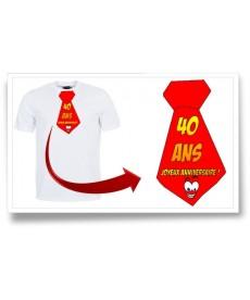 "Tshirt ""Cravate 30ans"""