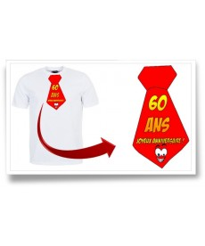 "Tshirt ""Cravate 60ans"""