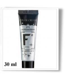 Maquillage à l'eau argent