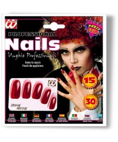 15 Faux Ongles rouges