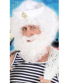 Perruque avec barbe de marin
