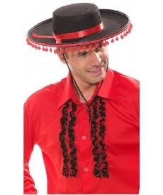 Chapeau espagnol à pompoms