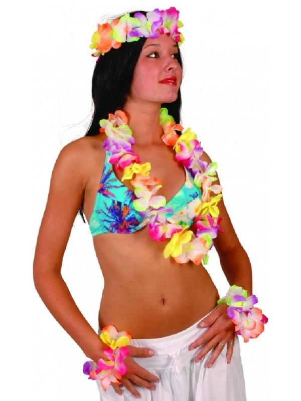 Déguisement Hawaï - Le set fluo